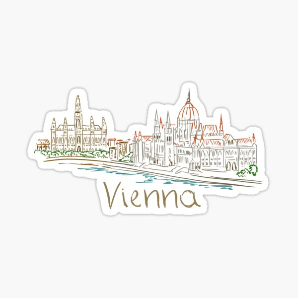 Vienna Wien Panorama Sticker