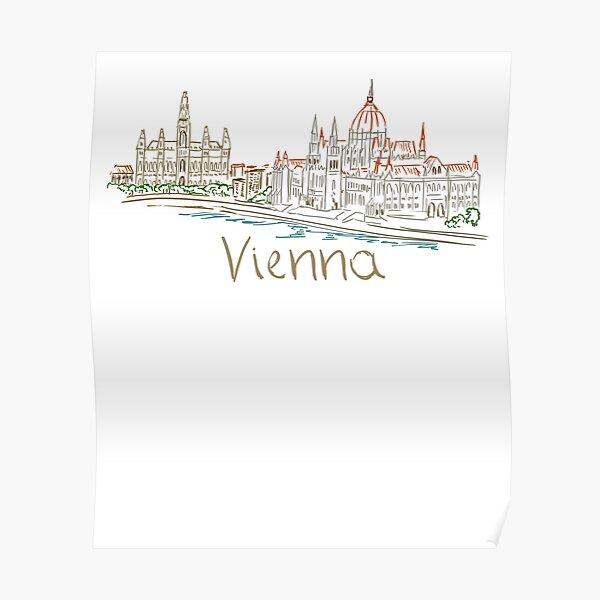 Vienna Wien Panorama Poster