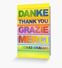 Danke Greeting Card