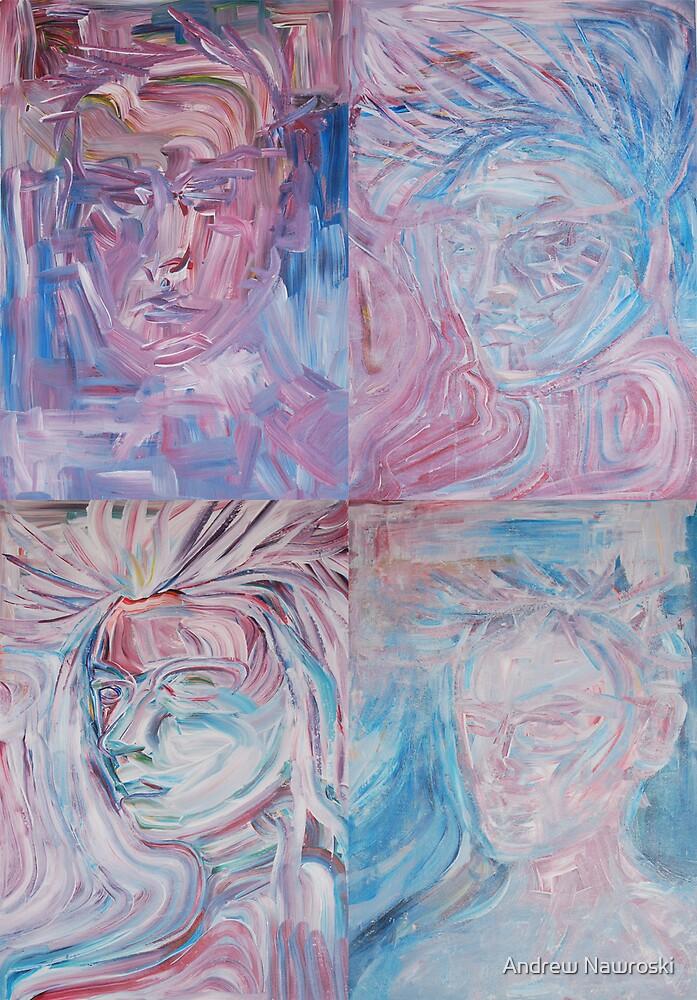 4 Portrait Studies. by Andrew Nawroski