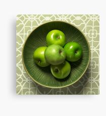 Green on Green Apples Canvas Print