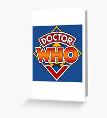 Doctor who Classic Logo 1 Greeting Card
