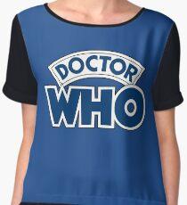 Classic Doctor Who Book Logo Chiffon Top
