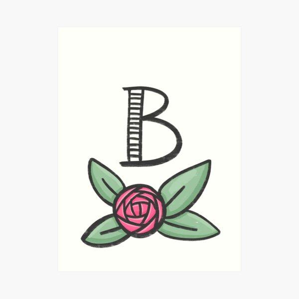 Monogramm B Kunstdruck