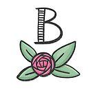 Monogramm B von farbcafe