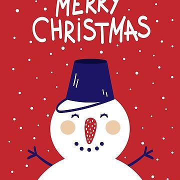 Merry Christmas Snow Man by cutecutedesigns