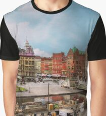 City - Syracuse NY - The Clinton Square Canal 1905 Graphic T-Shirt