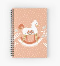 Folk Rocking Horse by Katy Bloss Spiral Notebook