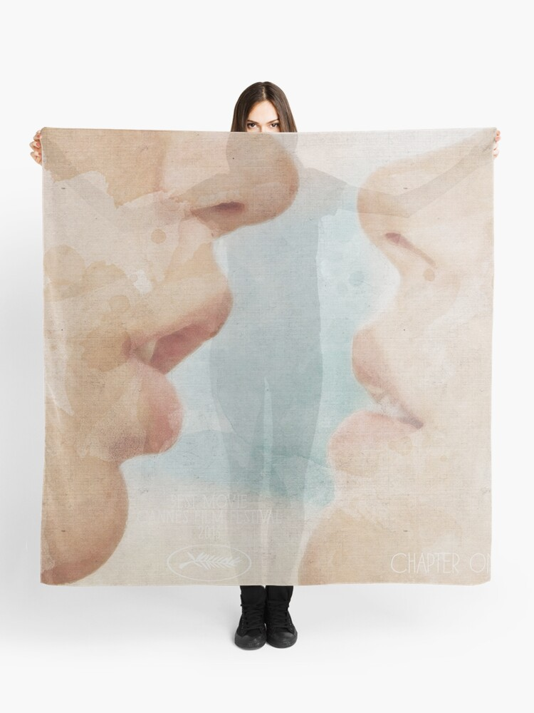 blue is the warmest colour alternative movie poster la vie d adele french film with lea seydoux and adele exarchopoulos about girls love scarf by spallutos redbubble