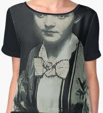 Young Faces from the past Series by Adam Asar, No 130 Women's Chiffon Top