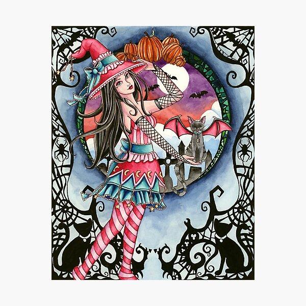Aelita - Halloween Witch Photographic Print