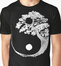 Yin Yang Bonsai Tree Japanese Buddhist Zen Graphic T-Shirt