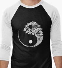 Yin Yang Bonsai Tree Japanese Buddhist Zen Men's Baseball ¾ T-Shirt