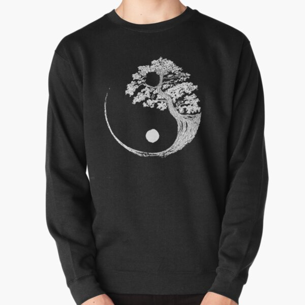 Yin Yang Bonsai Tree Japanese Buddhist Zen Pullover Sweatshirt