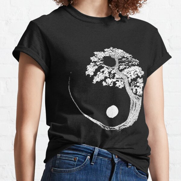 Yin Yang Bonsai Tree Japanese Buddhist Zen Classic T-Shirt