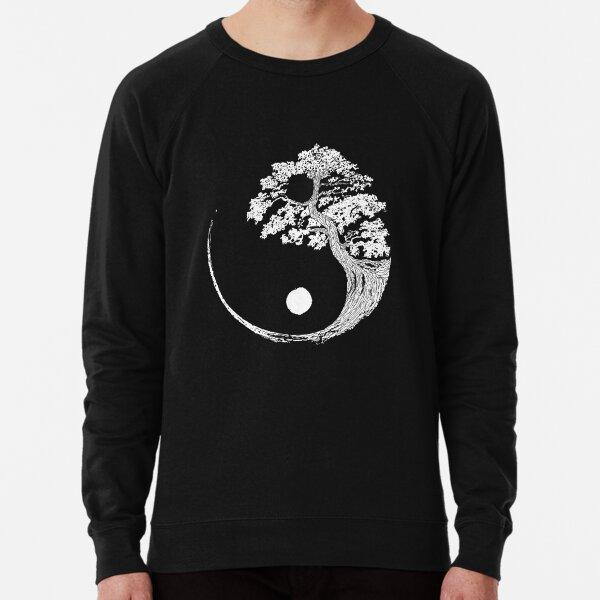 Yin Yang Bonsai Tree Japanese Buddhist Zen Lightweight Sweatshirt
