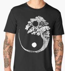 Yin Yang Bonsai Tree Japanese Buddhist Zen Men's Premium T-Shirt