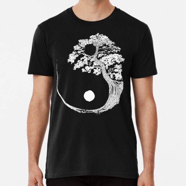 Yin Yang Bonsai Tree Japanese Buddhist Zen Premium T-Shirt