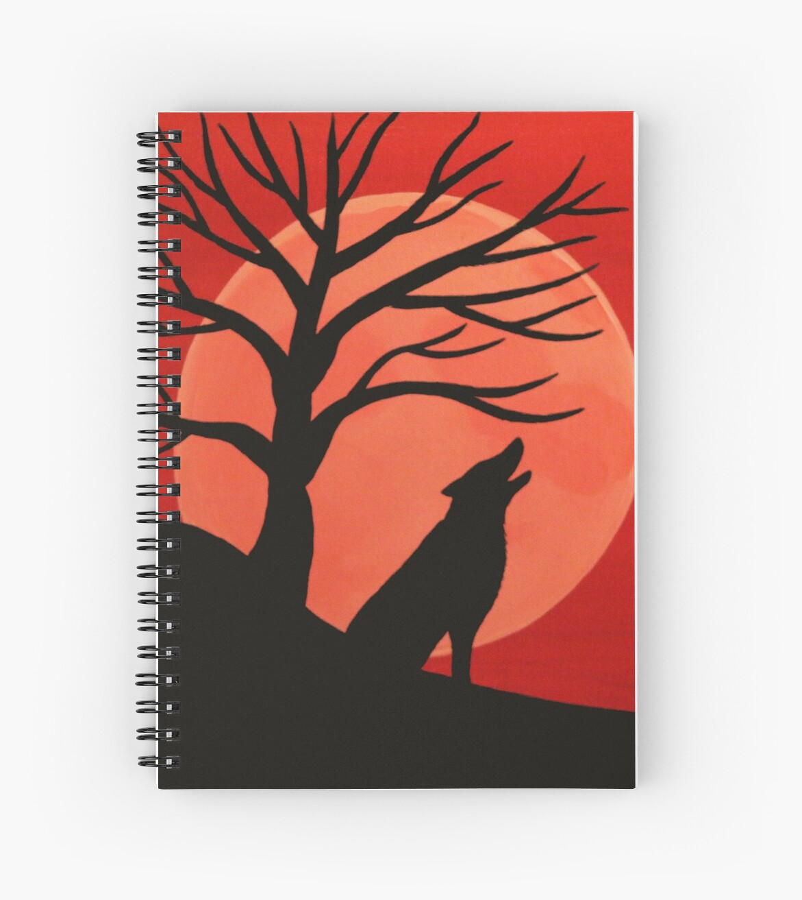 'Spooky Wolf Tree' Spiral Notebook