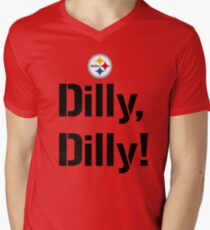 Bud Light Pit of Misery The Sequel Dilly Dilly Pittsburgh Steelers TV Commercial meaning philip rivers  Men's V-Neck T-Shirt