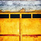 Iron door with rusty metal by Silvia Ganora