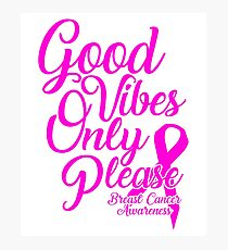 Support Breast Cancer Awareness Photographic Print