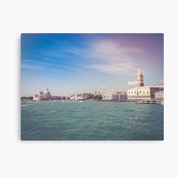 Anfahrt auf Venedig Leinwanddruck