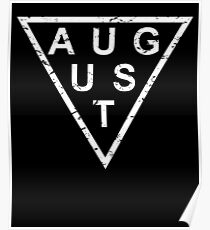 Stylish Birthday Born In August Poster