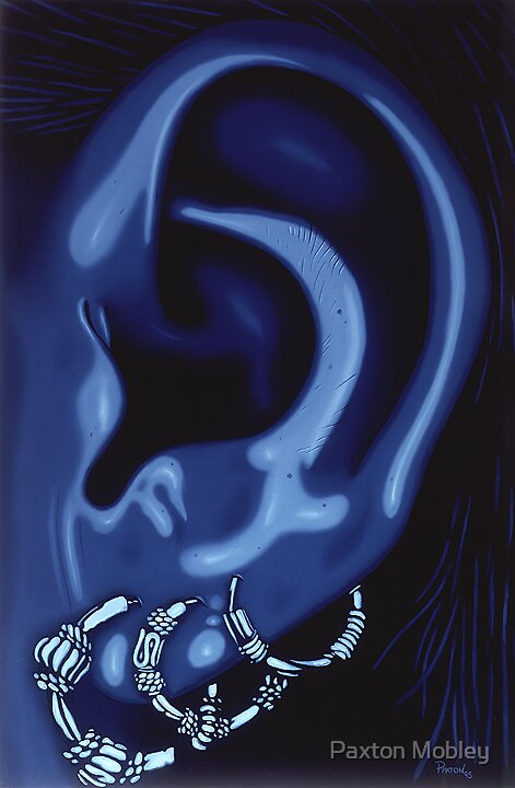 Portrait of my Ear in Blue by Paxton Mobley