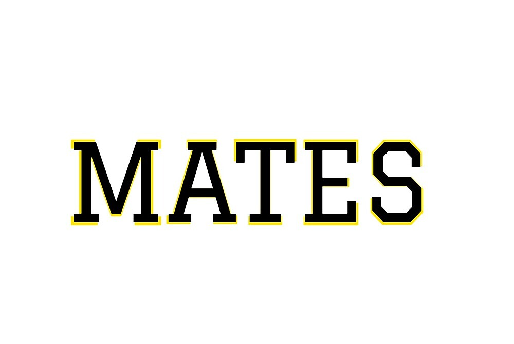 MATES sticker by Tufts Amalgamates