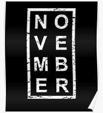 Stylish Birthday Born In November Poster