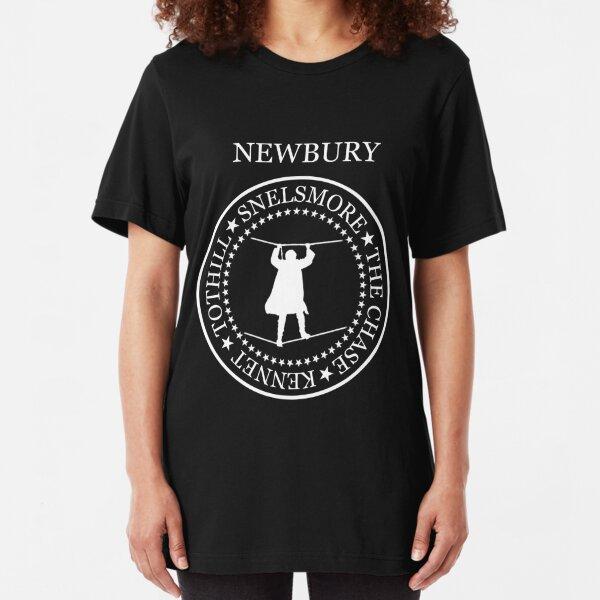 Newbury (snelsmore, white text, 401) Slim Fit T-Shirt
