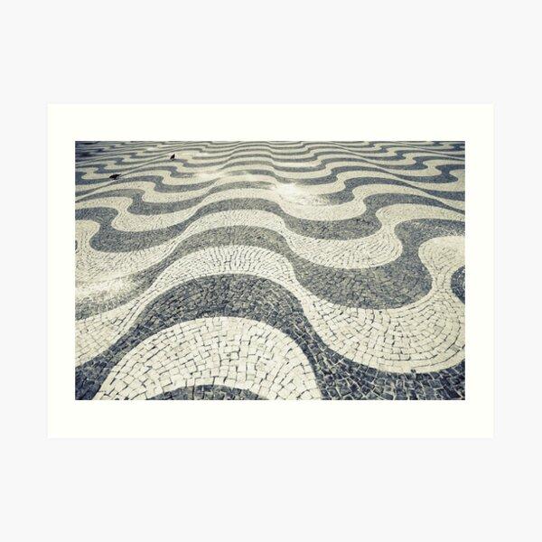 Waves (Calçada Portuguesa) Art Print