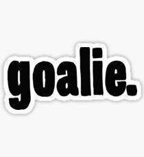Goalie Drawn - Cool Sports Sticker T-Shirt Pillow Sticker