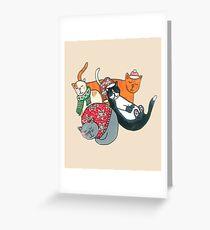 Cute Chrstmas Cats Greeting Card