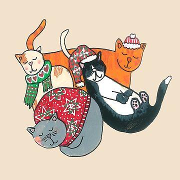 Cute Chrstmas Cats by DoodlesAndStuff