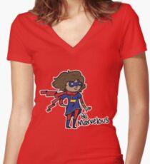 Kamala Khan - Be Marvelous Women's Fitted V-Neck T-Shirt