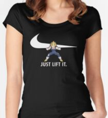 Just Lift It - Anime Leg Day Squat Parody Women's Fitted Scoop T-Shirt