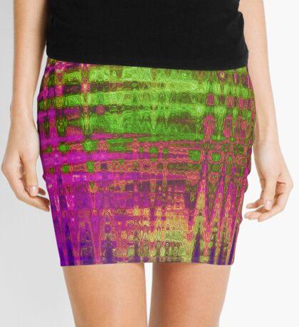 Purple Wire Mini Skirt