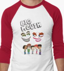 Big Mouth Monsters Men's Baseball ¾ T-Shirt