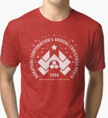 Nakatomi Corporation's Annual Christmas Party 1988 (aged look) Tri-blend T-Shirt