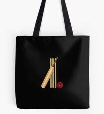 Cricket Wicket, Bat and Ball Tote Bag