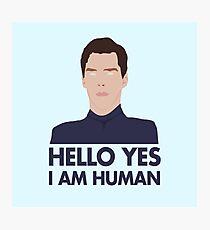 Alien Cumberbatch Meme Photographic Print