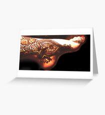Henna Tattoo Original Bajidoo Designs Greeting Card