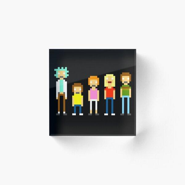 Rick and Morty Pixel Acrylic Block