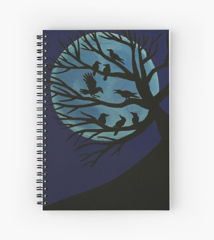 'Spooky Raven Tree' Spiral Notebook