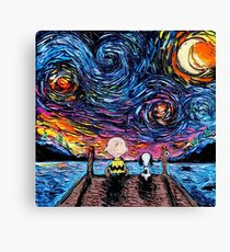 Snoopy Starry Night Canvas Print