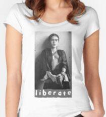 BEFREIEN! Tailliertes Rundhals-Shirt