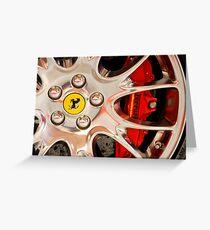 Ferrari Wheel and Brakes Greeting Card