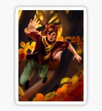 Autumn Personification Illustration Sticker